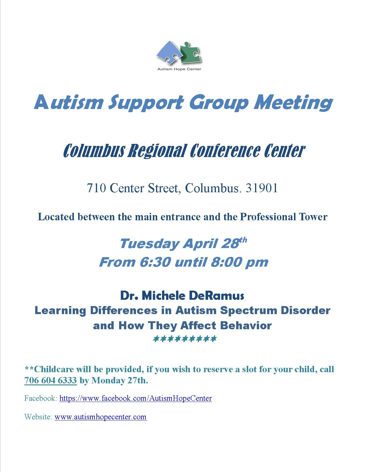 dr deramus speaks about autism spectrum disorder in recognition support group meeting