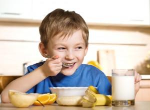 Healthy breakfast kid